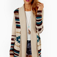 Trisha Tribal Cardigan $50