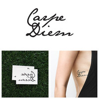Carpe Diem - Temporary Tattoo (Set of 2)