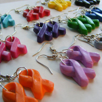 Awareness Ribbon Earrings - 1 pair