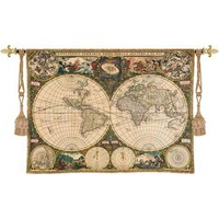 Pure Country Weavers 1447-WH Old World Map Tapestry Wall Hanging