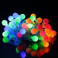 InnooTech Globe Battery Operated Indoor String Lights 40 Led Fairy for Bedroom Outdoor Wedding Party Decoration Multil Color