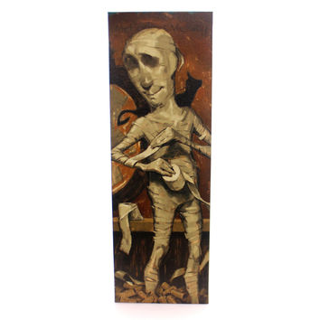 Halloween Meticulous Mummy Halloween Wall Art