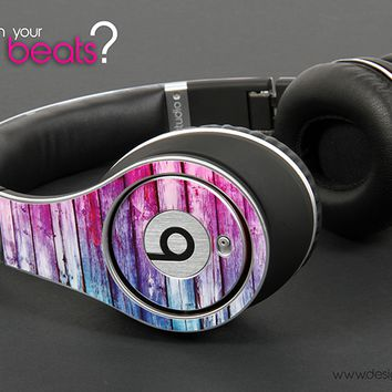 Blue And Pink Washed Wood Planks Skin for the Beats by Dre