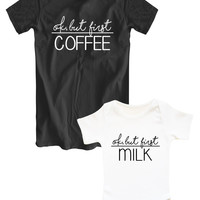 Ok But first Coffee/Ok but first milk matching family set