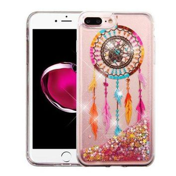 Iphone 8 Plus Case Iphone 7 Plus Case Apple Wydan Slim Hybrid Liquid Bling Glitter Sparkle Quicksand Waterfall Shockproof Tpu Phone Cover Dreamcatcher Gold Stars