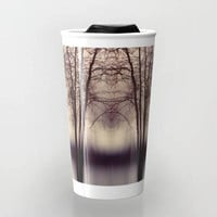 Ceramic Travel Mug - Abstract Trees Photo - Hot or Cold - 12oz - Made to Order