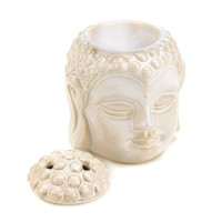 Buddha Head Serenity Ceramic Tealight Candle Oil Warmer