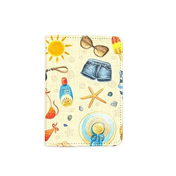 Beach Summer Travel Leather Passport Cover - Vintage Passport Wallet - Travel Accessory Gift - Wallet for Women and Men _Mishkaa