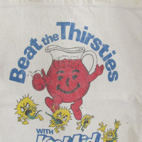 1960s Kool Aid Grain Sack Tote Bag Kool Aid Drink Mix Vintage Kool-Aid Advertising Tote Bohemian Tote Bag Gypsy Bag