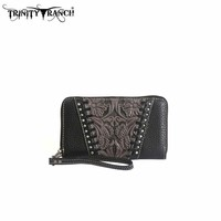 Montana West TR12-W003 Trinity Ranch Tooled Wallet