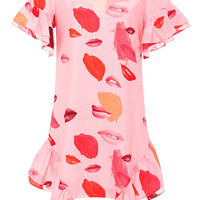 Chance Happenings Printed Cotton and Silk-Blend Dress
