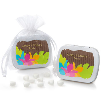 Luau - Personalized Everyday Party Mint Tin Favors