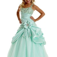 Y&C Girls' Spaghetti Straps Sequins Ball Gown Pageant Dresses