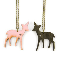 Doe A Female Deer Necklace  Handmade  Laser Cut by UnpossibleCuts