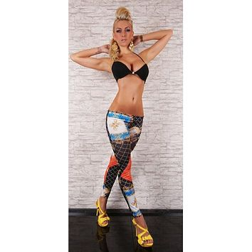 Italian Designer Inspired Chain Print Leggings
