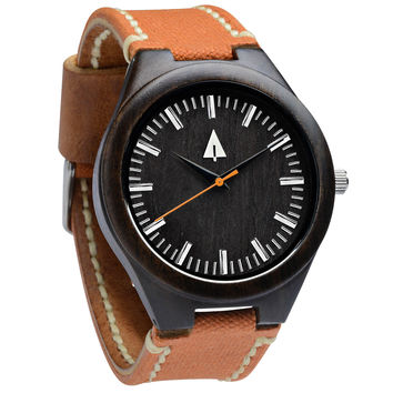 Wooden Watch // Theo Rustic Amber