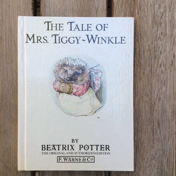The Tale of Mrs. Tiggy Winkle - Vintage Beatrix Potter Children's Book, 1987