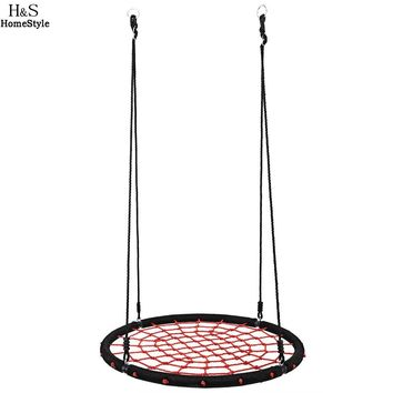Homdox New Outdoor Comfort Durability Hanging Chair Large Hammock Chair Net Round Swing Kit