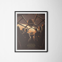 Star Wars Art Print, Vintage Movie Poster, Digital Download, 300dpi
