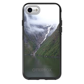 DistinctInk™ OtterBox Symmetry Series Case for Apple iPhone or Samsung Galaxy - Tracy Arm Fjord Waterfall