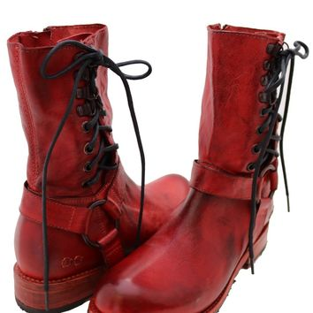 Elsworth Boot Red Dip Dye by Bed Stu