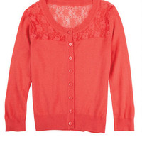 Lace Trim Cardigan -