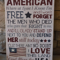 Americana Subway Art Sign, 12x18; 4th of July, Independence Day, Flag Day Decoration