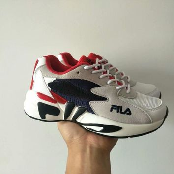 fila women all match casual fashion multicolor letter thick bottom sneakers running shoes