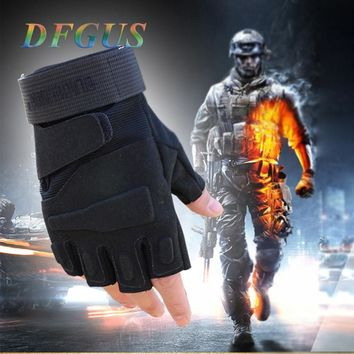 Military US Special Forces Tactical Gloves Outdoor Army Fighting Combat Slip-resistant Fitness Gym Gloves