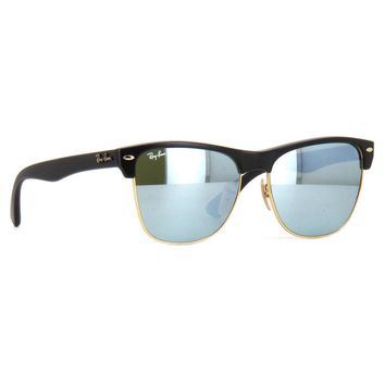 Ray Ban RB4175 877/30 Clubmaster Oversized Sunglasses Black Silver Flash 57mm