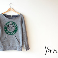 Women Crop Sweatshirt -Disney The Little Mermaid Starbucks Sweatshirt