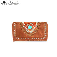 Montana West Tooled Collection Secretary Style Wallet