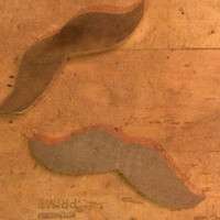 Set of 2 Rough Hewn Mustaches - Pallet Wood Free USA Shipping