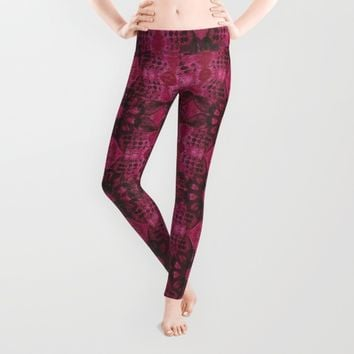 Magenta Dreams Leggings by Robin Gayl