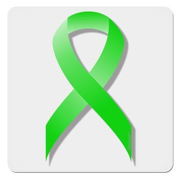 "Lyme Disease Awareness Ribbon - Lime Green 4x4"" Square Sticker"
