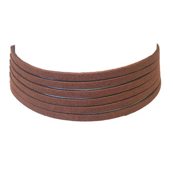 No Strings Attached Choker In Brown