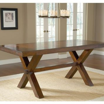 4692-park-avenue-counter-height-trestle-table - Free Shipping!