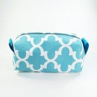 Blue Fulton Makeup Bag