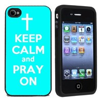 Keep Calm and Pray On Case / Cover For Apple iPhone 4 or 4s by Atomic Market