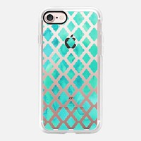 Mint Green Watercolor Diamond Pattern - transparent iPhone 7 Case by Micklyn Le Feuvre | Casetify