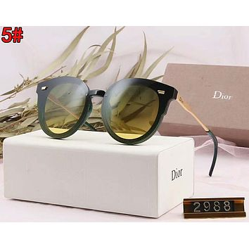 DIOR Women Casual Popular Summer Sun Shades Eyeglasses Glasses Sunglasses 5#
