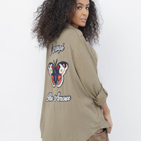 BLIND LOVE EMBROIDERED BLOUSE