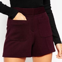 ASOS 70's Highwaist Short with Pocket Detail