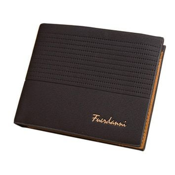 Badiya Men's Nubuck Leather Flipout ID Wallet Bifold Hybrid RFID Blocking