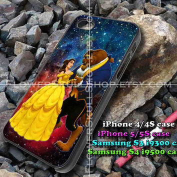 Beauty and The Beast on galaxy iphone case, iphone 4/4S, iphone 5/5S, iphone 5c, samsung s3 i9300, samsung s4 i9500, design accesories