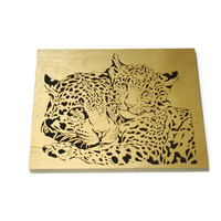 Leopard Couple Love Wall Hanging Art Handmade From Birch Wood By KevsKrafts