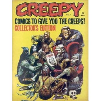 Creepy Cover poster Metal Sign Wall Art 8in x 12in