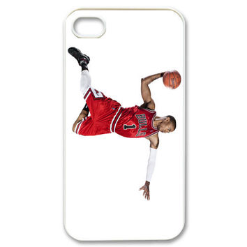 Custom Dunk Basketball NBA Derrick Case for iPhone 4 4s Fits Back Cover Cases M-002