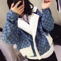 Louis Vuitton x Supreme Women zipper Sweater The cowboy Coat