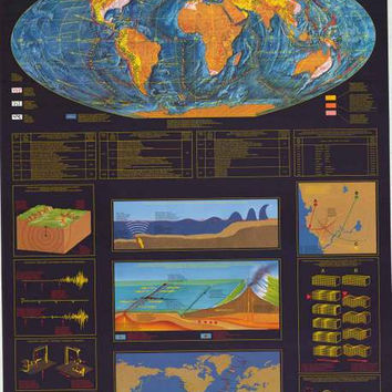 Earthquakes Seismology Education Poster 27x39